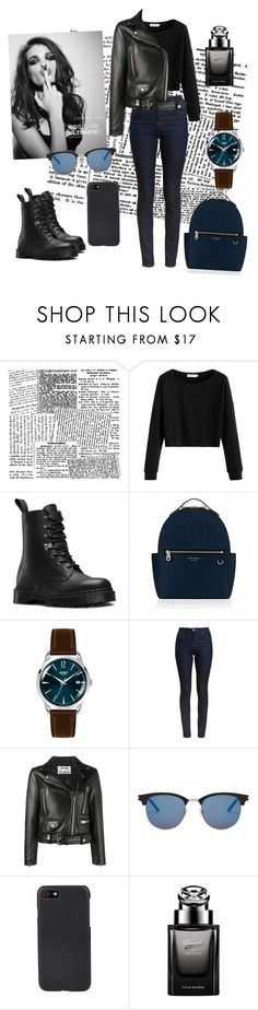 """Untitled #15"" by cherng ❤ liked on Polyvore featuring Dr. Martens, Henri Bendel, Henry London, Barbour, Acne Studios, Whiteley, Yves Saint Laurent, Shinola and Gucci"