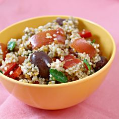 Vegetable Couscous Salad --- quinoa instead of couscous