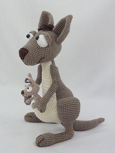 Känguru Roo und Baby Roo.........häkeln