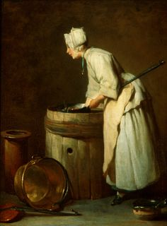 Jean-Siméon Chardin  French, 1699–1779  The Scullery Maid  1738  oil on canvas  18 1/2 x 15 inches