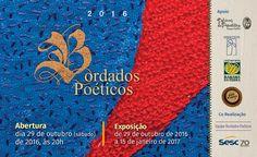 Exposição Bordados Poéticos  Abertura dia 29 de outubro (sábado), às 20h. Período de exposição: de 29 de outubro de 2016 a 15 de janeiro de 2017. Compareçam!  Centro Cultural Sesc Paraty - DN Rua D. Geralda, 320. Largo de S. Rita. Paraty/RJ  #Sesc #SescParaty #CasaSesc #CasaSescParaty #cultura #turismo #arte #VisiteParaty #TurismoParaty #Paraty #PousadaDoCareca #SiloCultural #SiloCulturalParaty #PartiuBrasil #MTur #boatarde #boatardee #boanoite #bomdia