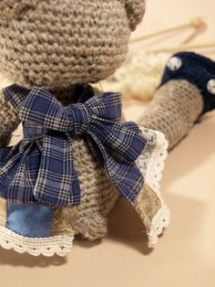 Edda the bear handmade amigurumi reserved for by dawntoussaint