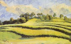 Rudolf Urech-Seon - Landschaft, 1923 In This Moment, Painting, Art, Watercolor Painting, Landscape Paintings, Switzerland, Kunst, Art Background, Painting Art