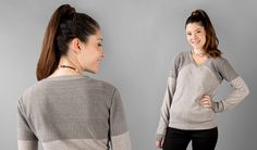 Silver-Shield Sweater | Women's Silver Knitted Sweater | Betabrand