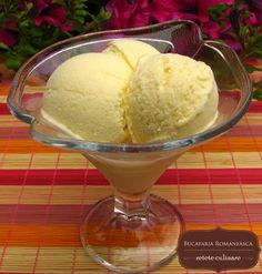 Inghetata de vanilie Romanian Food, Romanian Recipes, Cream Recipes, Sorbet, Gelato, Kiwi, Parfait, Deserts, Good Food