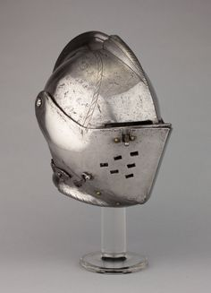 Northern Italian, probably Milan    Close Helmet for Tournament on Foot, c. 1580/1600    Steel  H. 34.3 cm (13 1/2 in.)    George F. Harding Collection, 1982.2225