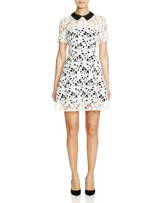 Aqua Collared Lace Overlay Dress - 100% Bloomingdale's Exclusive