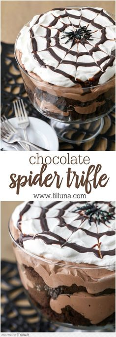 Chocolate Spider Trifle - Lil' Luna na Stylowi.pl