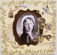 Timeless Style - Scrapbook.com        Wendy Schultz onto Scrapbook Layout's.