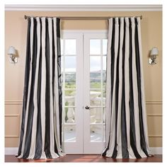Best Value and Compare Price For Half Price Drapes Presidio Faux Silk Taffeta Stripe Curtain Select the best value you need! Buy online Here and Save Taffeta Stripe Curtain Very good quality from Top Brand! 108 Inch Curtains, Curtains 1 Panel, Faux Silk Curtains, Striped Curtains, Cotton Curtains, White Curtains, Curtain Panels, Bedroom Curtains, Plaid Curtains