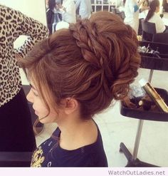 Wonderful hair color and updo design