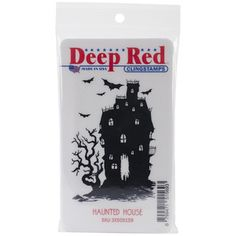 Deep Red Stamps > Haunted House - Deep Red Cling Stamp: A Cherry On Top