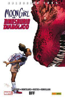 """""""Moon Girl y Dinosaurio Diabólico 1"""" (Brandon Montclare, Amy Reeder Hadley y Natacha Bustos, Panini Cómics)"""