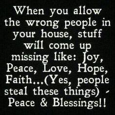.Be careful who you invite into your inner sanctum (home) @carmela perkins  Hmm?  Hmm??