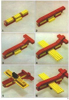 vliegtuig van lego