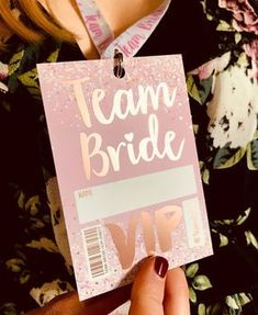 Rose Gold Team Bride Hen Party Lanyards, We are super excited to launch these gorgeous new VIP pass hen party accessories, perfect for rose gold hen party themes. Hens Party Themes, Hen Party Favours, Hen Party Decorations, Party Ideas, Bachelorette Party Themes, Bachelorette Party Favors, Hen Night Ideas, Hen Ideas, Hens Night