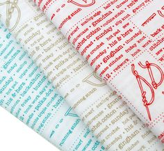 Red Pepper Quilts: Sunday Stash #158 ~ More Text and Novelty Fabrics