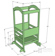 The Little Helper Tower - Anna White Plans, tools, cut list, materials list, step-by-step instructions