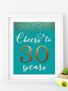 Items similar to Cheers to 40 Years, Anniversary Sign, Birthday Sign, Confetti Turquoise Gold Birthday Party Decoration, Birthday décor on Etsy 55th Birthday, Gold Birthday Party, Birthday Ideas, Birthday Bash, Birthday Wishes, Happy Birthday Signs, Birthday Cards, Birthday Presents, 50th Birthday Decorations