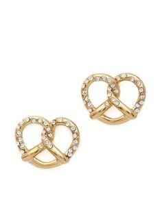 Salty Pretzel Stud Earrings