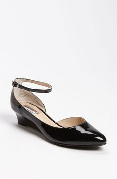 Halogen® 'Bianca' Wedge available at #Nordstrom. If we do wedges this is a good option for my bridesmaid shoes.