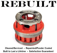 "Ridgid 37410 12-R Pipe Threader Die Head, 1-1/2"" NPT, With Std Alloy RH Dies #Ridgid"