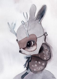 Mrs Mighetto Into the Woods Miss Ester Poster Nursery Paintings, Art Paintings, Arte Sketchbook, Kunst Poster, Illustration Art, Illustrations, Art Graphique, Art Girl, Watercolor Art