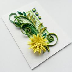 Quilled Birthday Card Mother's Day Card Quilling by Gericards