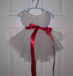 Cute tutu dress that could be a flower girl dress for sure