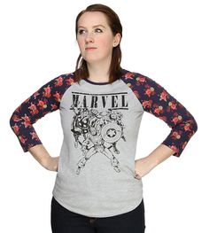 Marvel Ladies' Raglan. Yes please.