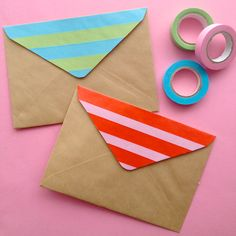 Send pretty mail - an easy way to brighten your envelopes with Washi tape