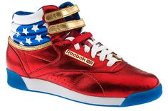 These Wonder Woman Inspired Reeboks are cool! - I want these.