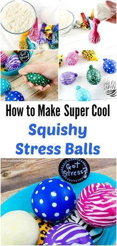 DIY Make Stress Balls Kids Will Love, Super cool squeeze balls, great for anxiety in kids & adults, help with Fidgeting, Easy to make, sensory balls #Stress