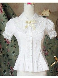 Cotton Ruffles Lace Lolita Blouse 3 Colors