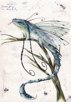 Dragonfly draco calopteryx by ~ThaliaAngel91 on deviantART