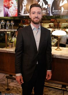 Justin Timberlake dons designer suit for Variety brunch | Daily Mail Online