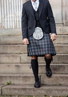 Our exclusive Oban Mist tartan is understated and versatile. The combination of grey and brown tones in the design make the kilt compatible with a whole range of accessories and jackets to suit your wedding theme Kilt Wedding, Wedding Suits, Wedding Parties, Wedding Attire, Wedding Dresses, Scotland Kilt, Glasgow Scotland, Men In Kilts, Kilt Men