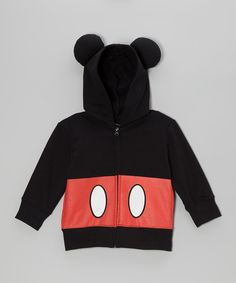 The only thing better than watching cartoons is wearing a cartoon, which is why this zip-up hoodie is so perfect. And the classic Mickey outfit graphic on the front makes this cozy piece a true mouseterpiece.