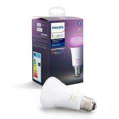 Philips Hue LED Colour changing Classic Dimmable Smart Light bulb - B&Q for all your home and garden supplies and advice on all the latest DIY trends Bluetooth, Philips Hue, Dimmable Light Bulbs, Hue Color, Light Works, Works With Alexa, Color Changing Led, Led Lampe, Color Change