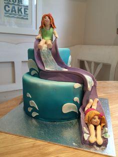 Waterslide cake Birthday Cakes, Birthday Ideas, Birthday Parties, Waterslide Cake, Roller Coaster Cake, Swimming Cake, Trampoline Party, Lily Cake, Anna Cake