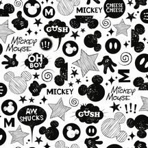 Disney Wallpaper Black And White Mickey Mouse Pattern Number DS7811 Iphone