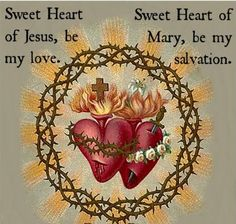 Sacred and Immaculate Hearts Jesus and Mary