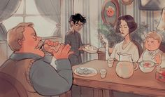 YES THIS IS A BLOG., bevsi: Harry and the Dursleys this is really good art