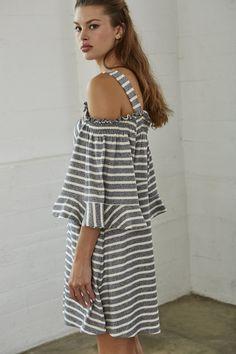 64b60f46a5a55  Stripe Jersey Dress  Striped Jersey