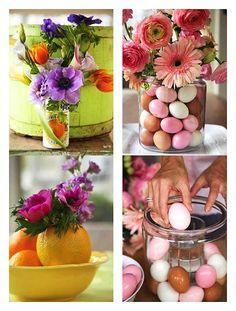 Arreglos florales con frutas y verduras
