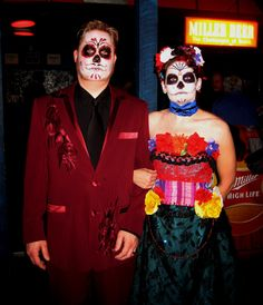 #home made #halloween costume #day of the dead dolls
