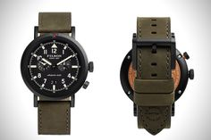 The Filson and Shinola partnership expands with a new addition to their growing watch line, the new Scout Watches. Inspired by the classic pilot watches, the Scout is made by hand in Shinola's Detroit watch factory, and features a bi-direction Tactical Watch, Watch 2, Fashion Shoes, Quartz, Shinola, Crystals, Classic, Accessories, Edc