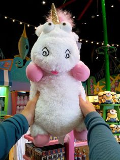 """Despicable Me Unicorn Plush """"IT'S SO FLUFFY!!!"""" Agnes 26"""" XLarge Very Soft NEW"""