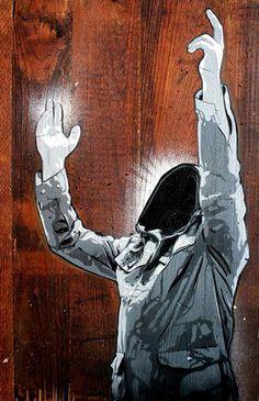 """Street art by Joe Iurato. """"Here Where You Left Me"""""""