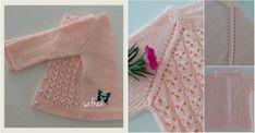 Elif Su Hırka Yapılışı Baby Knitting Patterns, Knitting Stitches, Baby Blanket Crochet, Crochet Baby, Knit Baby Dress, Pink Color, Christmas Stockings, Blue And White, Blog